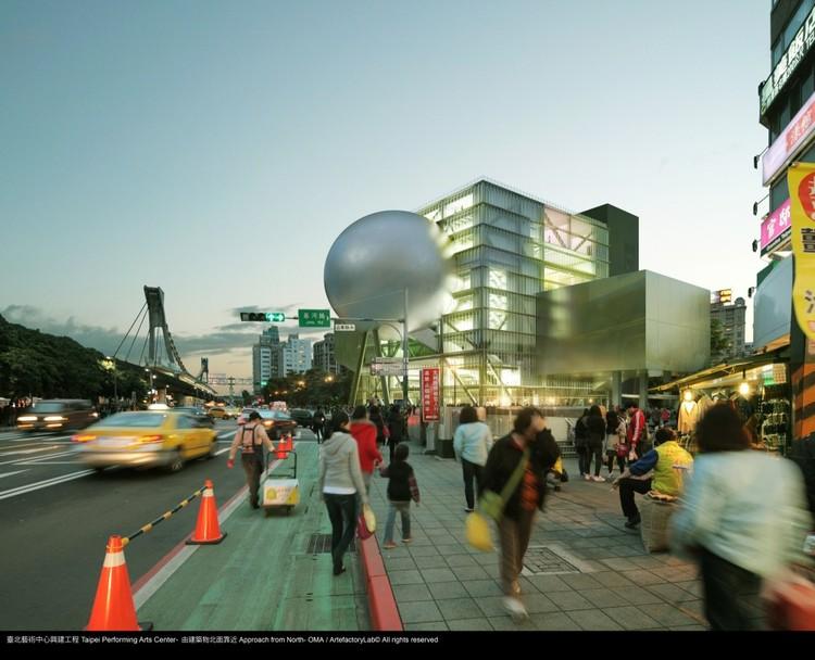 Taipei mais próxima de se tornar a Capital Mundial do Design de 2016, Centro de Artes Performáticas do OMA será concluído em 2015.