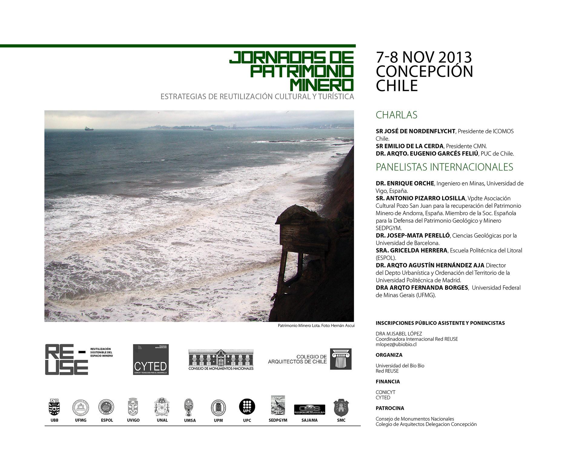 Jornadas de Patrimonio Minero, Estrategias de Reutilización Cultural y Turística / Universidad del Bio Bio, Courtesy of UBB