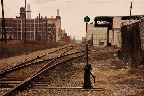 Railroad Track in Detroit. Image Courtesy of Shutterstock.com