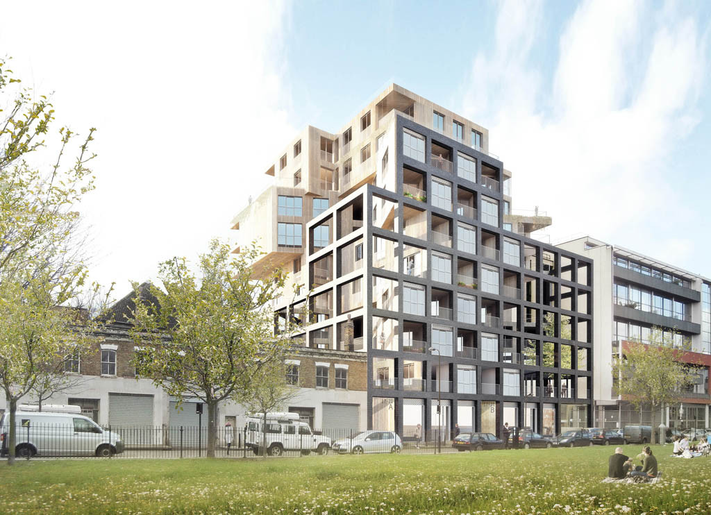 Wenlock Road Mixed-Use Development Proposal / Hawkins\Brown Architects, © Forbes Massie
