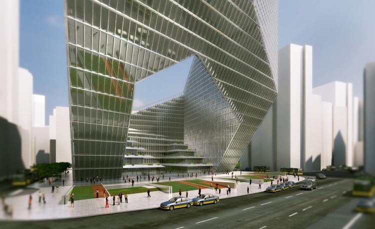 Proposta Vencedora para Torre de Uso Misto em Pequim / DOS Architects, Cortesia de DOS Architects