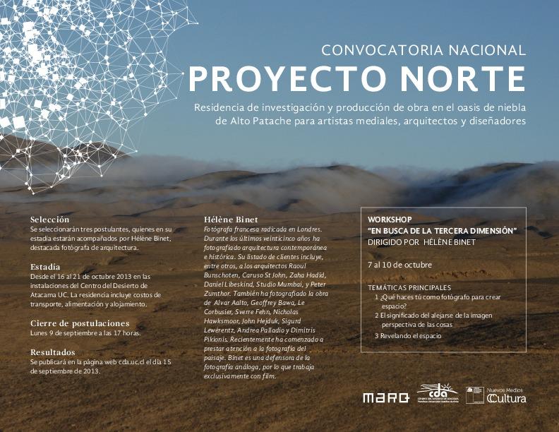 PROYECTO NORTE: Convocatoria Nacional Residencia Para Artistas Mediales, Arquitectos Y Diseñadores  , Courtesy of MARQ