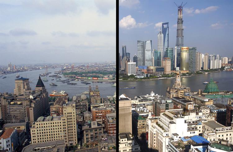 Xangai antes e depois: 26 anos de crescimento