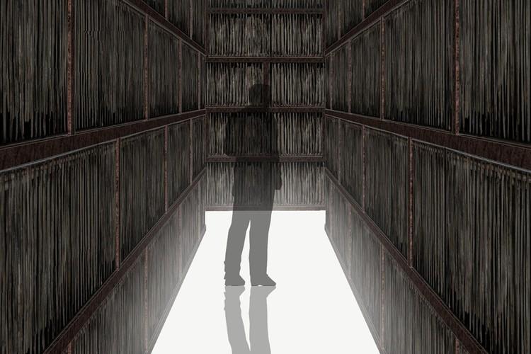 Sete arquitetos, sete instalações multi-sensoriais para Londres, Imagem conceitual do ambiente de Li Xiaodong, encomendada pela Royal Academy of Arts, Londres, detalhe.Li Xiaodong