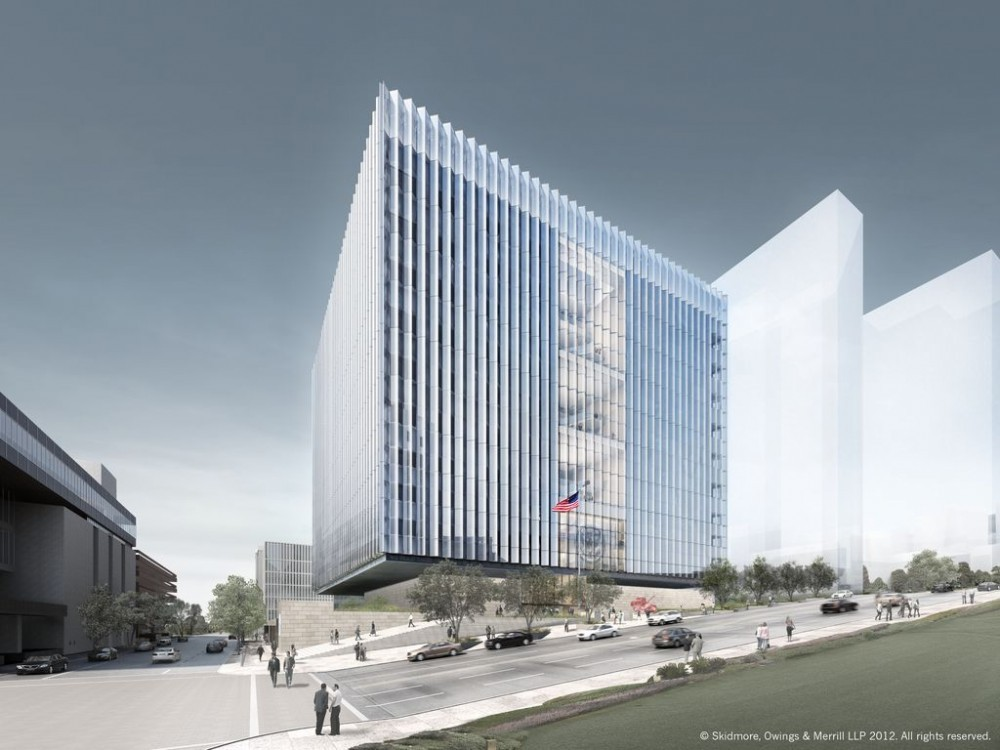 SOM Breaks Ground on Los Angeles' Courthouse, © SOM