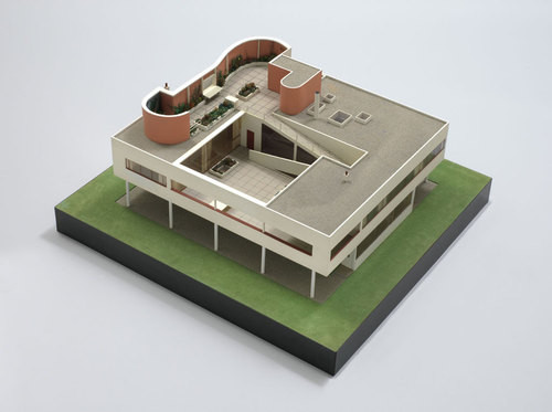 """Le Corbusier (Charles-Edouard Jeanneret) with Pierre Jeanneret. Villa Savoye Poissy-sur-Seine, France. 1929–31. Wood, aluminum, and plastic, 16 x 34 x 32"""" (40.6 x 86.4 x 81.3 cm). The Museum of Modern Art, New York. Purchase. © 2012 Artists Rights Society (ARS), New York/ADAGP, Paris/FLC. Image Courtesy of MoMA.org"""