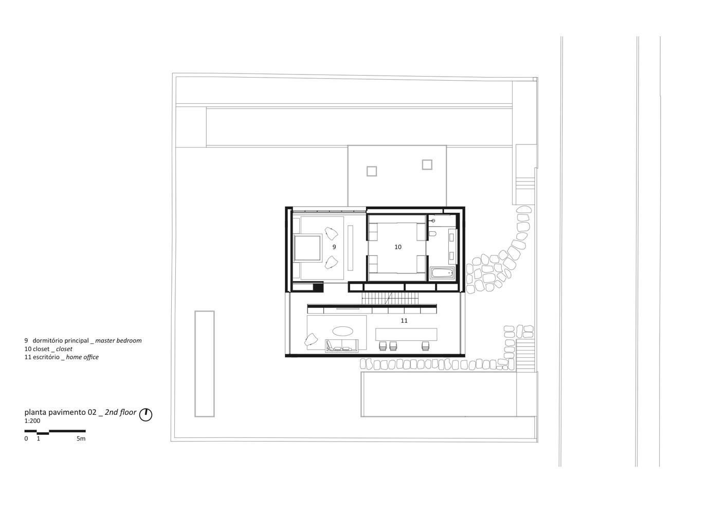 Cube House,Second Floor Plan