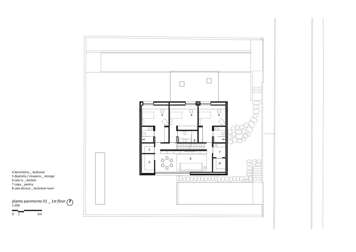 Marvelous Cube House,First Floor Plan
