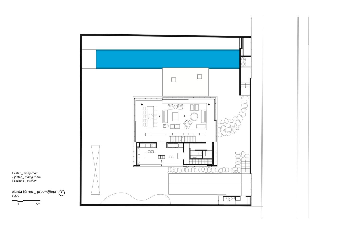 Cube House,Ground Floor Plan