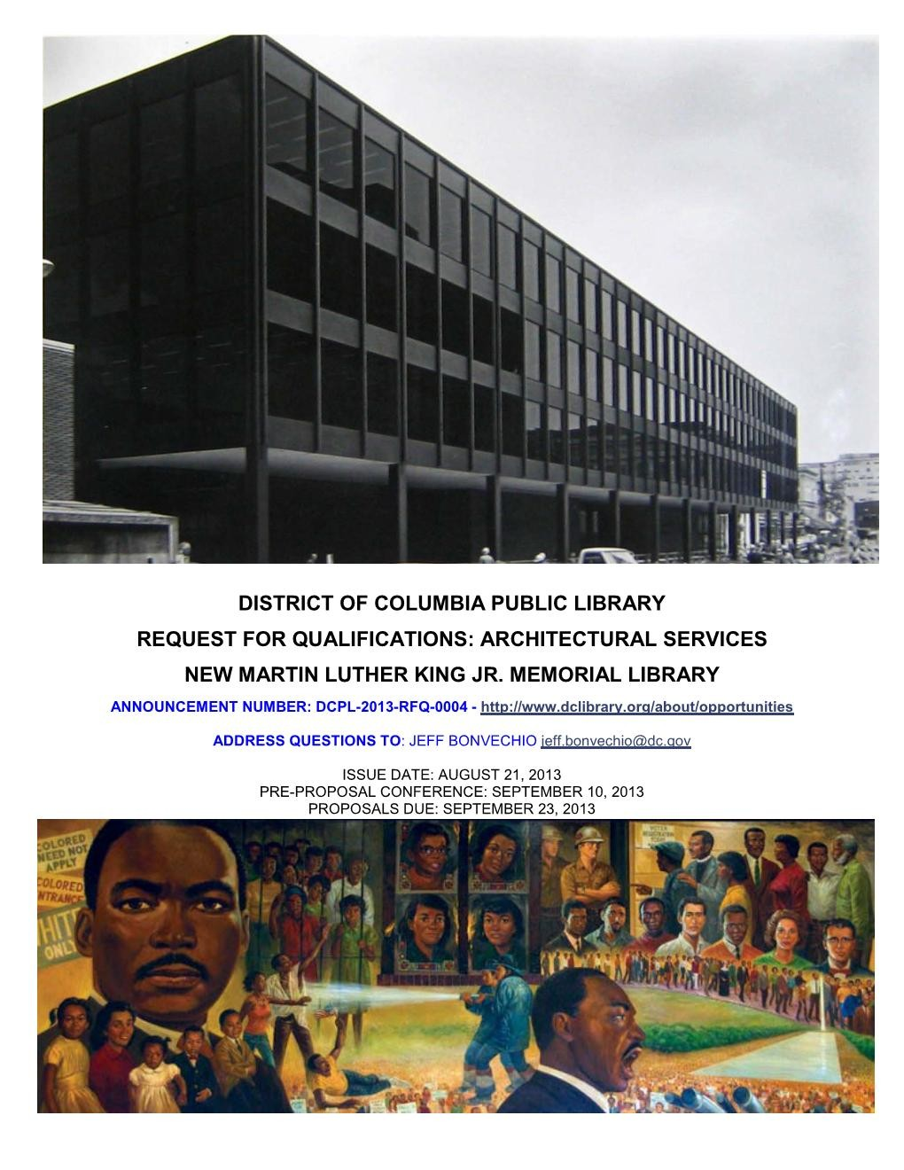 Gallery of Request for Qualifications: MLK Jr  Memorial