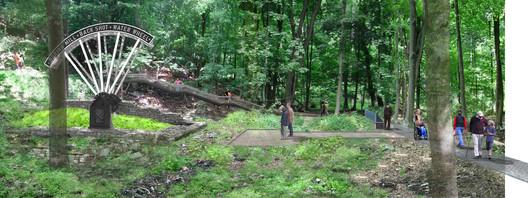 West Point Foundry Preserve Rendering. Image Courtesy of Mathews Nielsen Landscape Architects