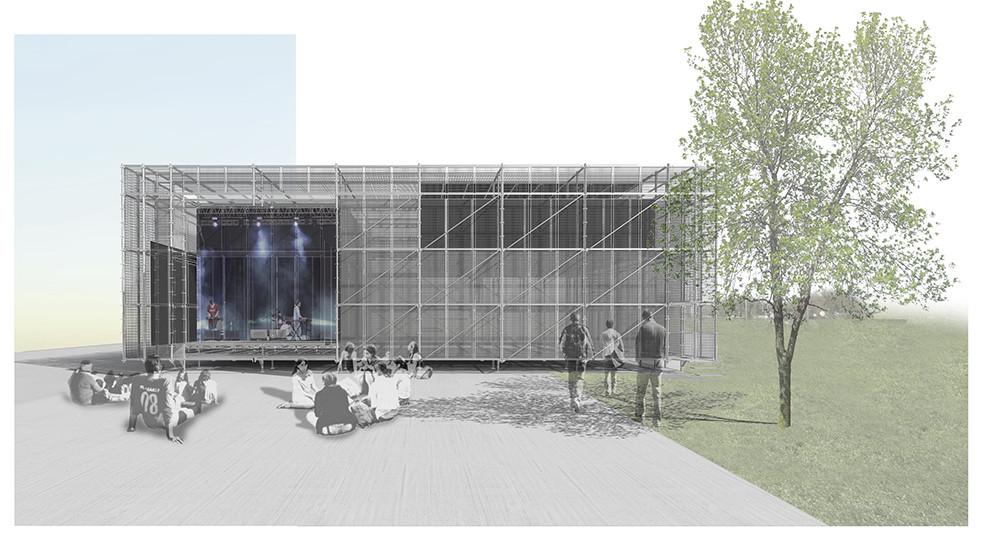 """Primer Lugar III Concurso Electrolux Fensa/Mademsa """"Proyectando un espacio público para la integración comunal"""", Courtesy of Pablo Montecinos Leyton + Antonio Jorquera"""