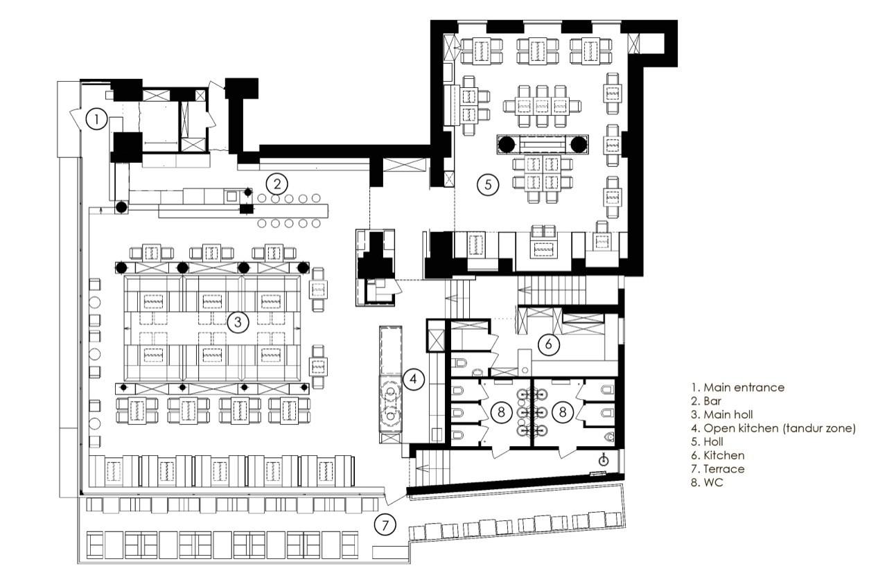 Galeria De Restaurant Odessa Yod Design Lab 19