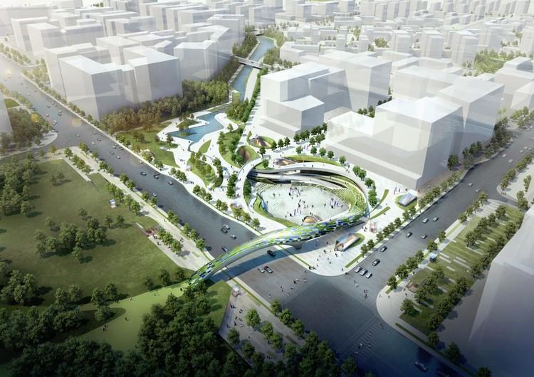 Proposta vencedora para a Praça Central de Magok / Wooridongin Architects, Cortesia de Wooridongin Architects
