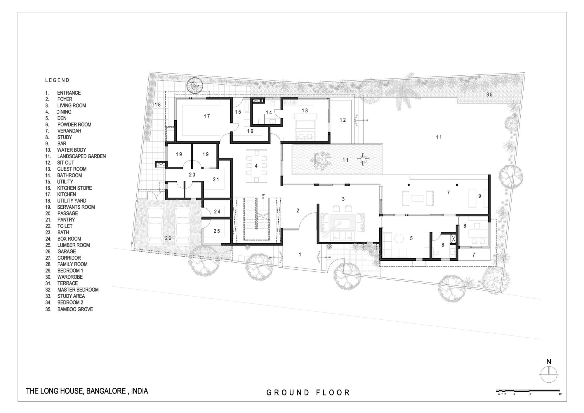 The Long House,Ground Floor Plan