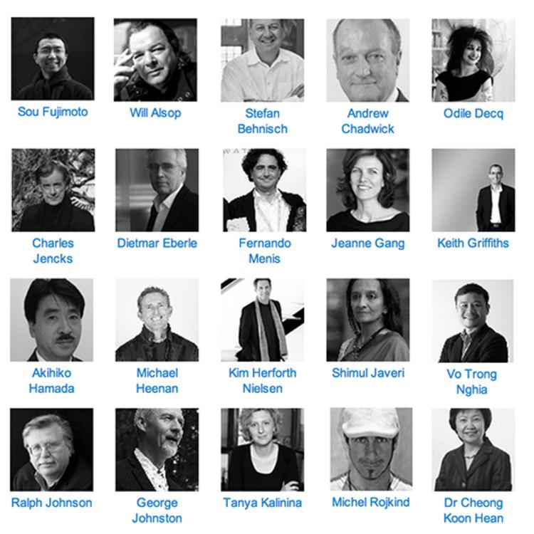 Palestrantes do World Architecture Festival: Sou Fujimoto, Dietmar Eberle, Charles Jencks, Jeanne Gang, dentre outros!