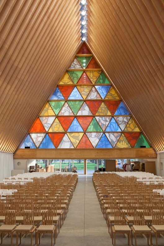 Newly Released Photos of Shigeru Ban's Cardboard Cathedral in New Zealand, © Bridgit Anderson