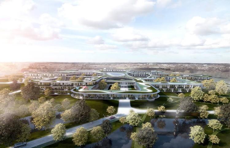 BIG é pré-selecionado no Concurso para projetar o maior hospital da Dinamarca, © BIG