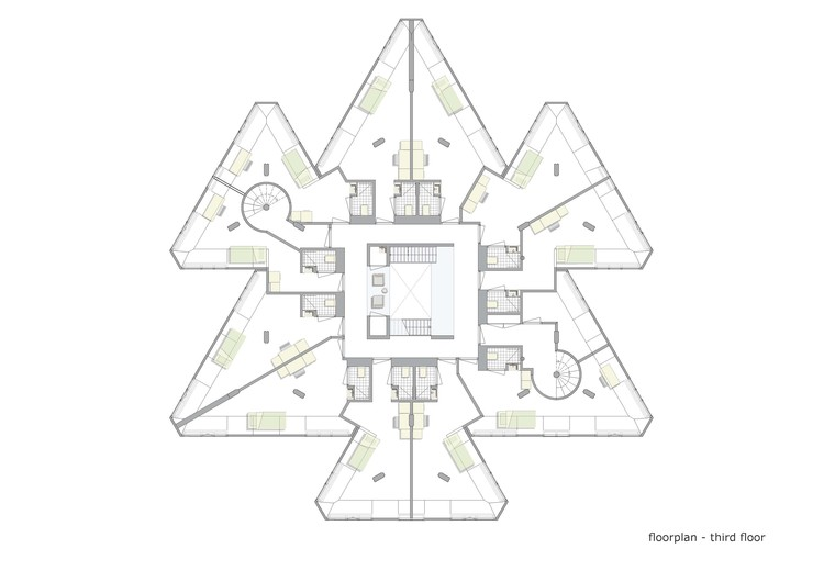 Exodus cube personal architecture archdaily for Cube house design layout plan