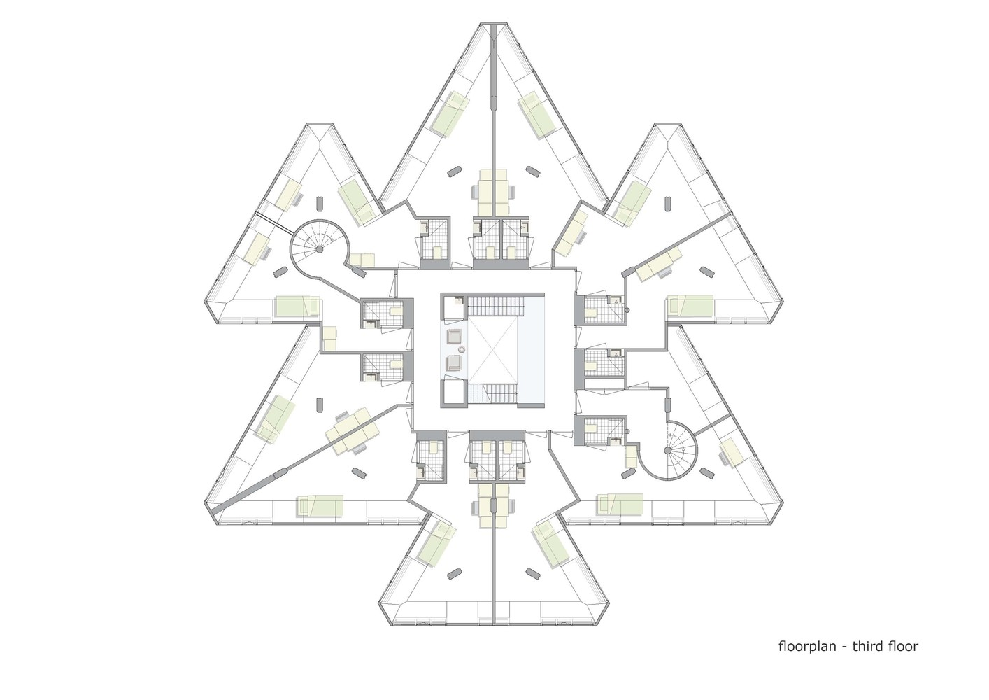 Exodus Cube,Third Floor Plan