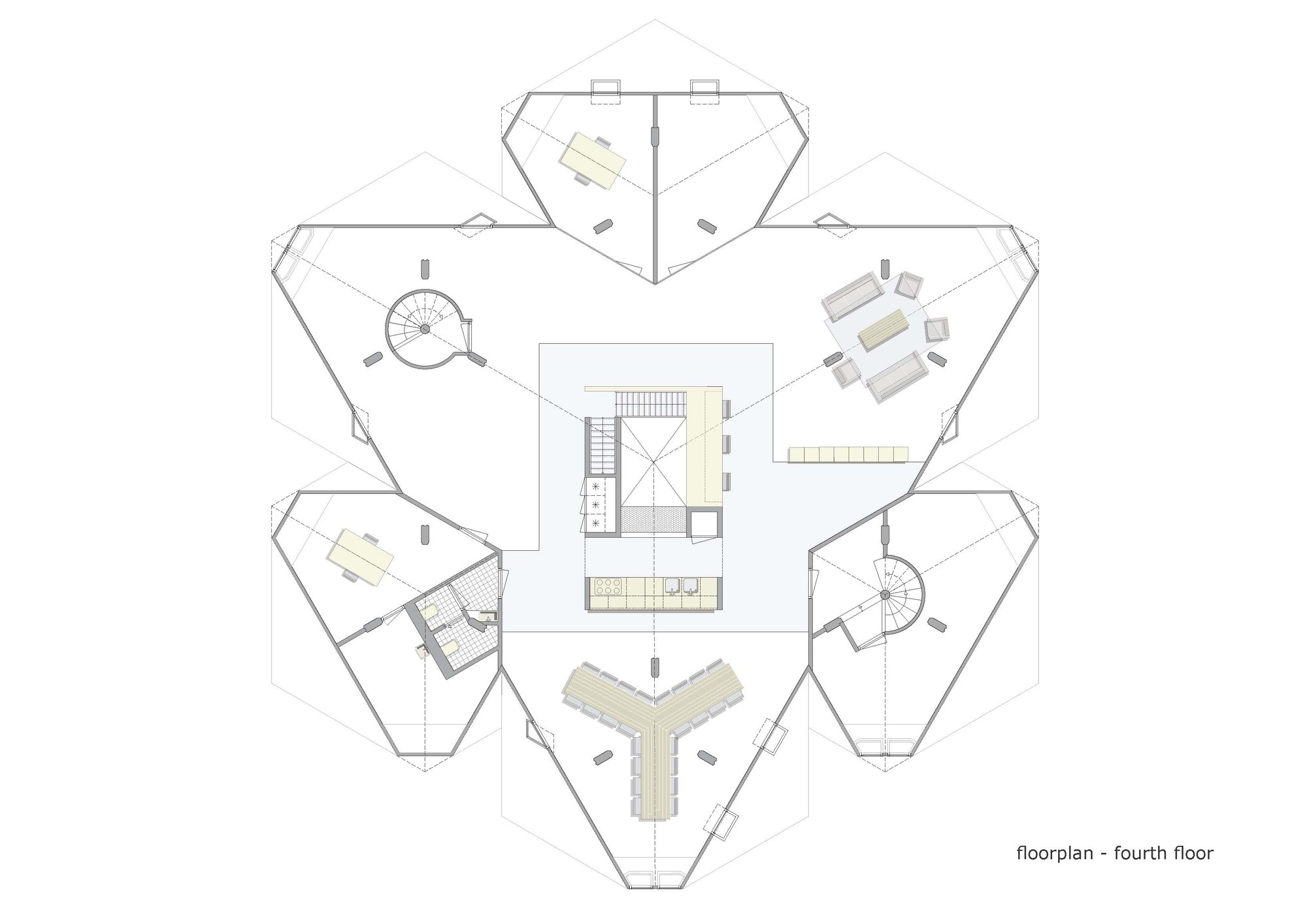 521829a0e8e44e45fc00001f Exodus Cube Personal Architecture Bna Fourth Floor Plan on Floor Plan Drawing
