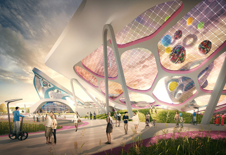 Escritórios de renome competem para projetar a Expo 2017 no Cazaquistão, © J. Mayer H. Architects (Germany)