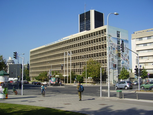 World Zionist Organization Building by Arieh Sharon and Benjamin Idelson, 1957. Image Courtesy of Wikimedia Commons