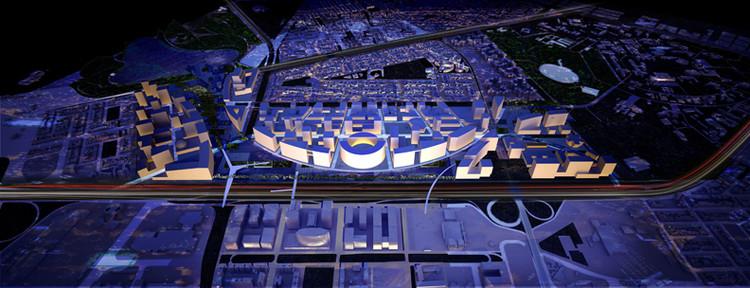 OMA escolhido para projetar o  Plano Diretor do novo Centro Cívico de Bogotá  , Aerial © OMA
