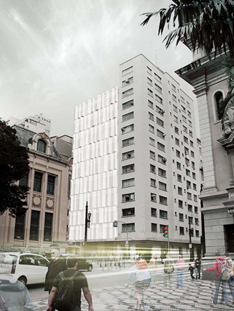 Resultado do Concurso para Adaptação do Edifício da Biblioteca da Faculdade de Direito da USP, 1º PRÊMIO – PROJETO Nº 88 - Imagem via IAB-SP