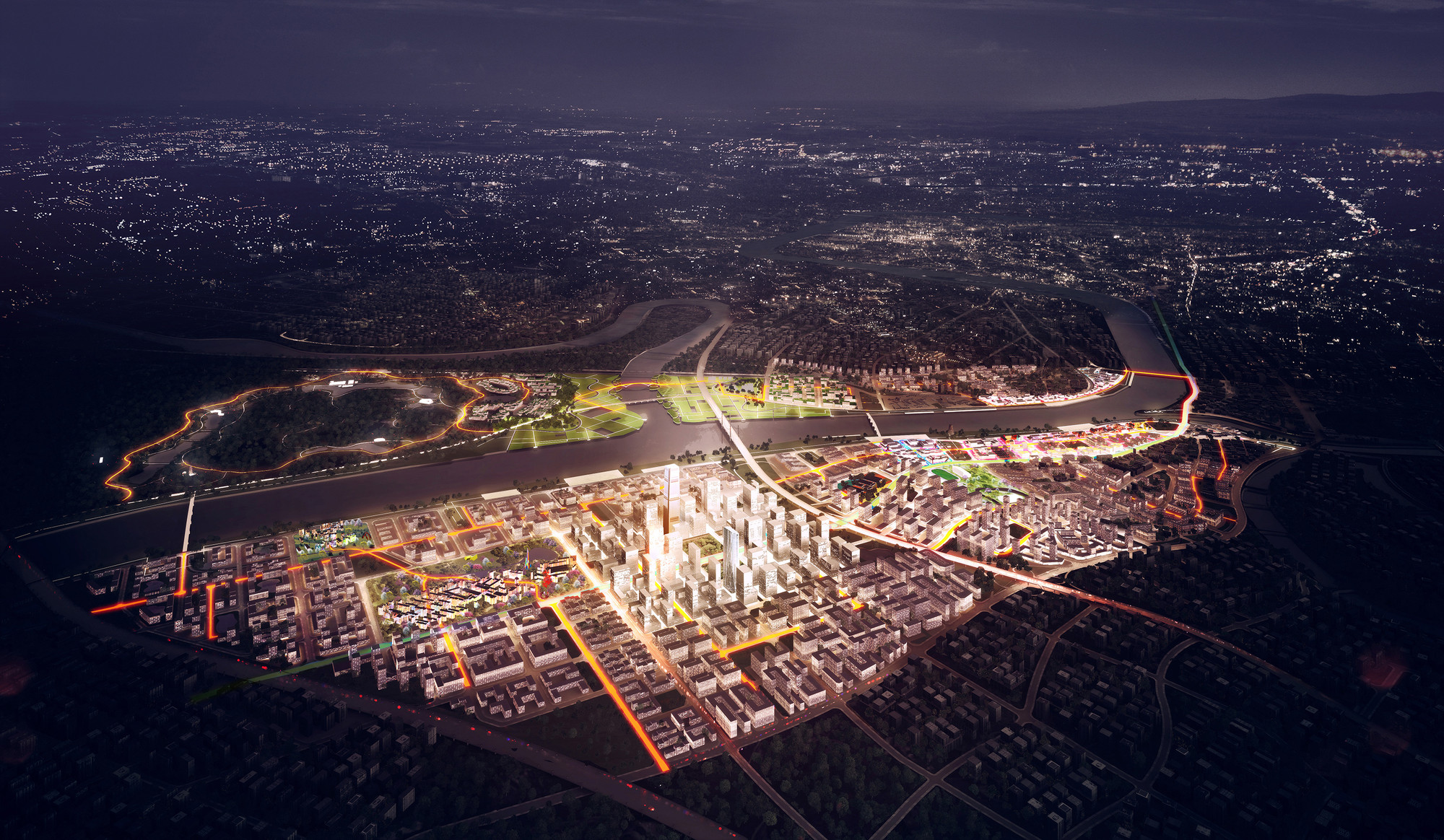 "ADEPT Selected to Construct ""Green Loops City"" in China, Courtesy of ADEPT"