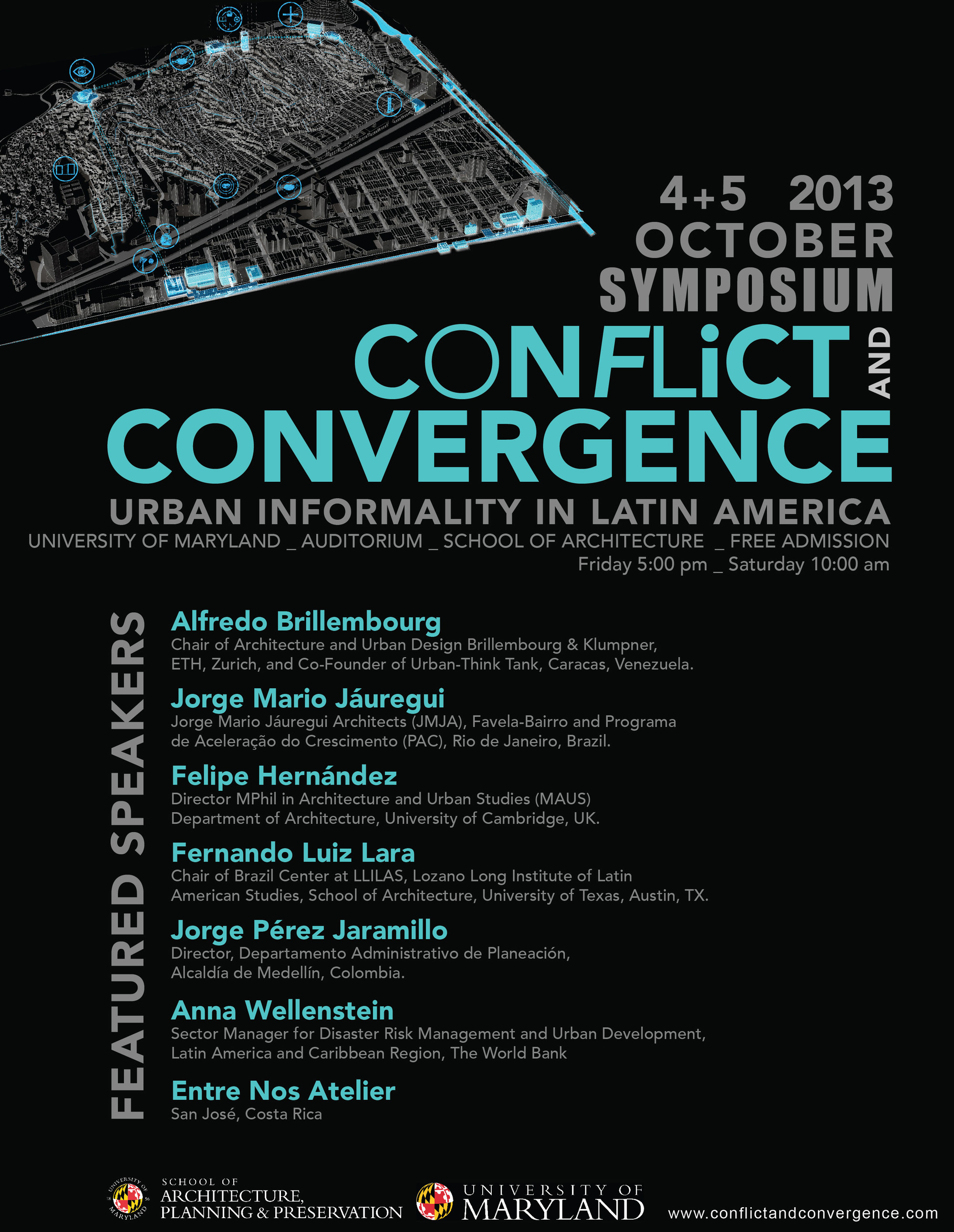 Poster design for symposium -  Conflict And Convergence Urban Informality In Latin America Symposium