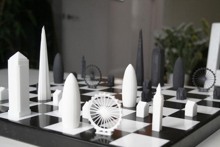 O skyline de Londres transformado em jogo de xadrez, © Courtesy of Skyline Chess