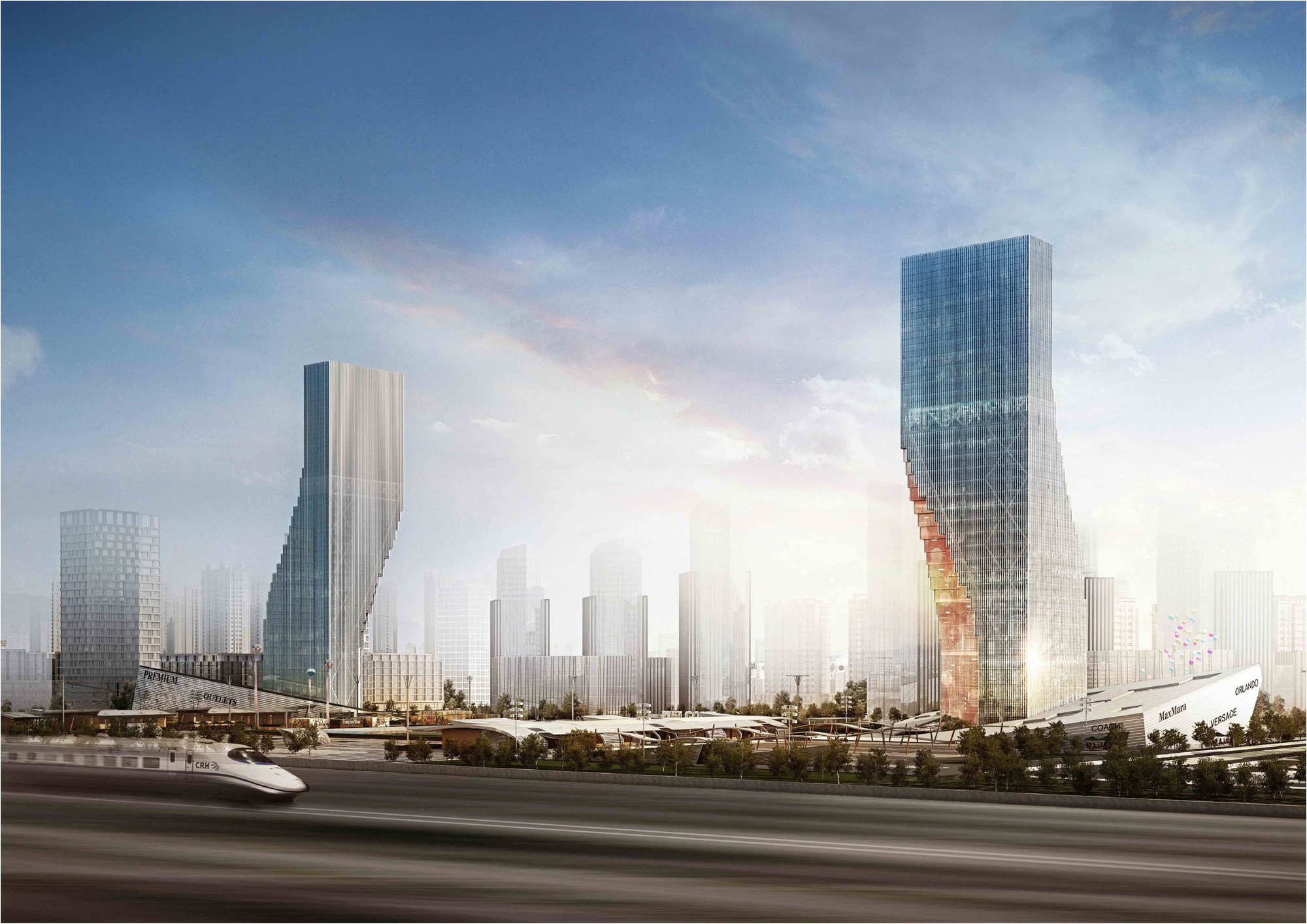 Harbin Twin Towers Proposal / spatial practice, Courtesy of spatial practice