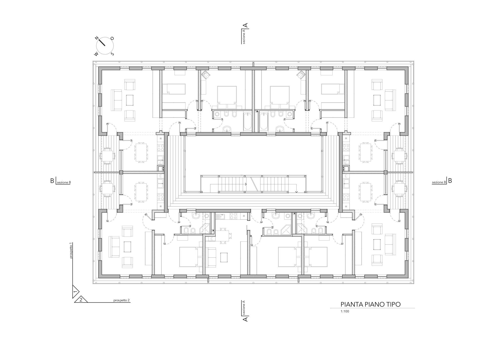 Gallery of social houses in motta di livenza matteo thun for Plan social