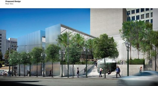 Foster + Partners' revised design for the new SF Apple Store.. Image Courtesy of Apple