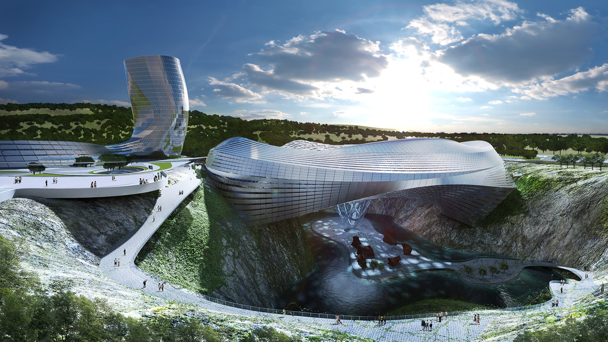 Dawang Mountain Resort Changsha / Coop Himmelb(l)au, Courtesy of Coop Himmelb(l)au