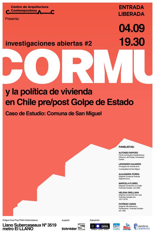 CORMU y la política de vivienda en Chile pre/post Golpe de Estado