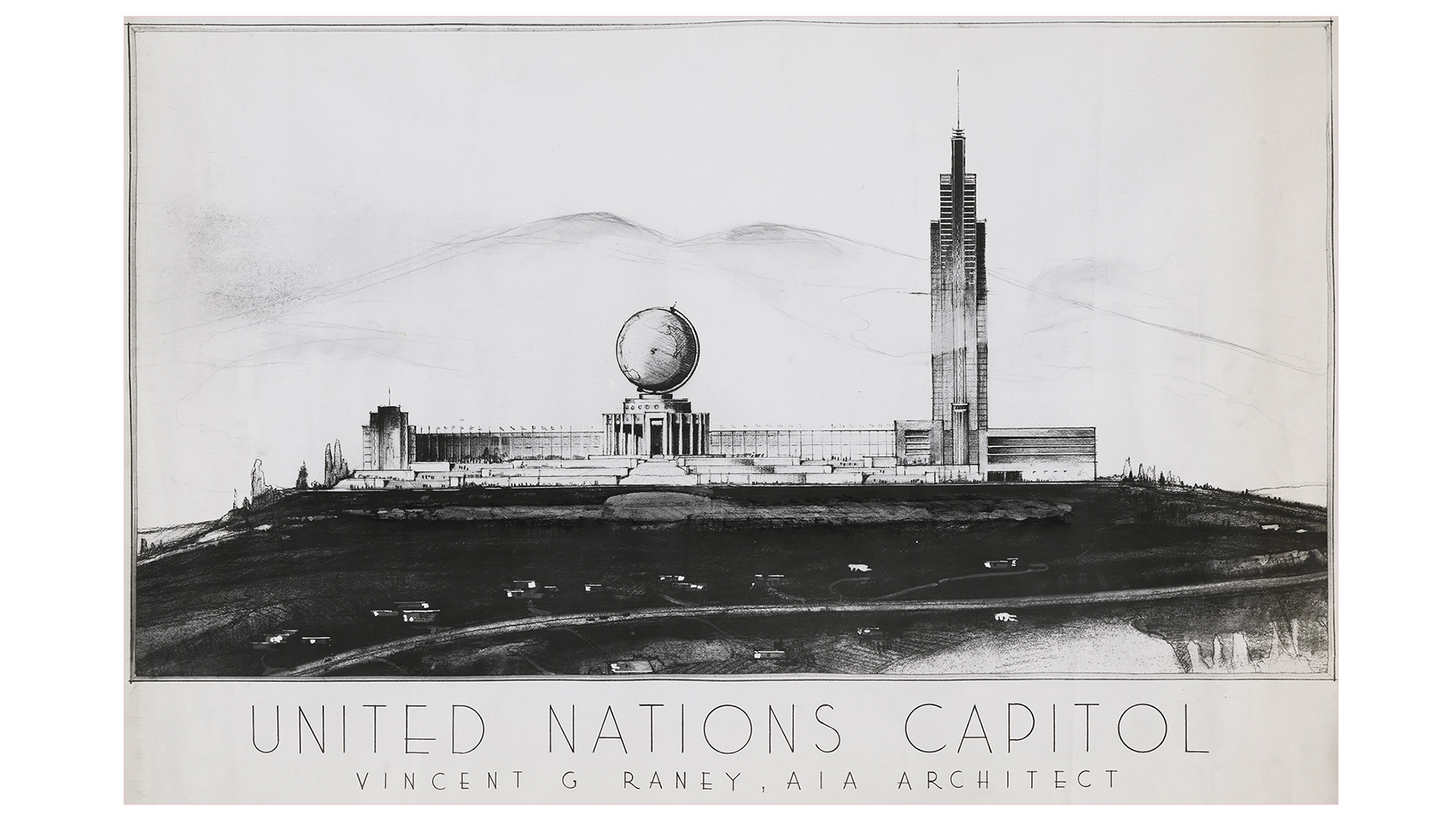 Unbuilt San Francisco: Grand Visions, Designs for United Nations Capitol / Vincent Raney Architect