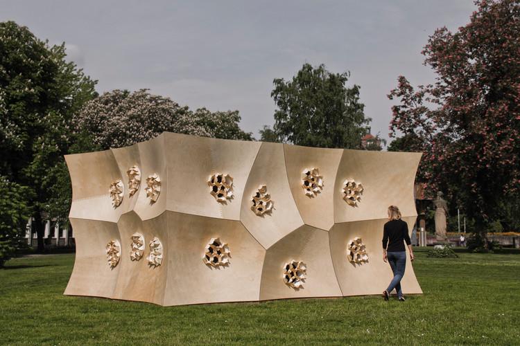 HygroSkin - Pavilhão Sensível / Achim Menges Architect + Oliver David Krieg + Steffen Reichert, Cortesia de ICD University of Stuttgart