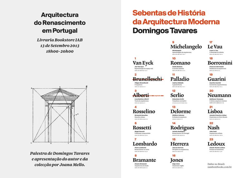 Palestra: Arquitetura do Renascimento em Portugal / São Paulo - SP, Divulgação