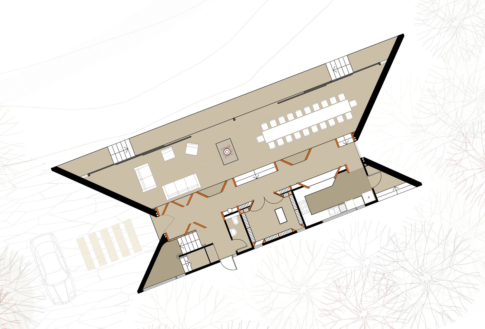 Gallery of cloudy bay winery tonkin zulaikha greer for Winery floor plans by architects
