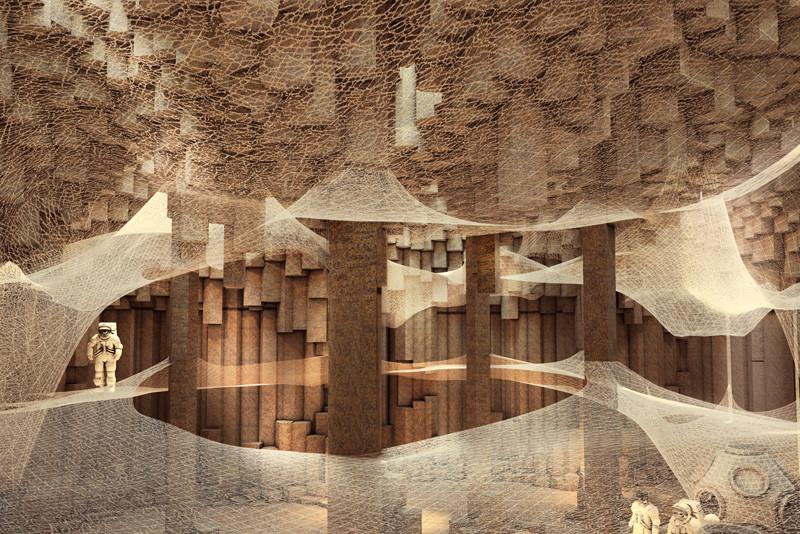 ZA Architects propone una colonia subterránea en el planeta Marte, © ZA Architects