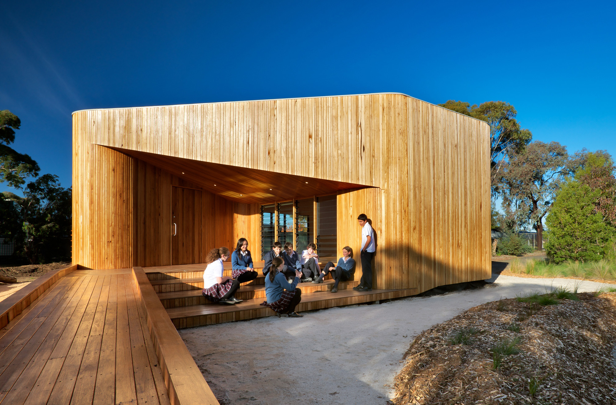 Bentleigh Secondary College Meditation and Indigenous Cultural Centre / dwpIsuters, © Emma Cross