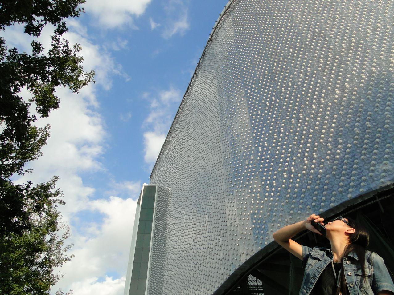 EcoArk en Taiwán: una mega-estructura construida con botellas de plástico recicladas