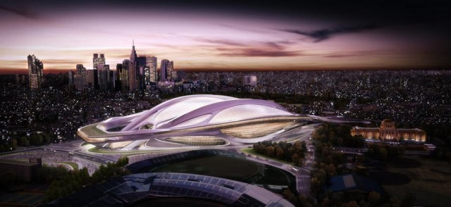 Los tres estadios que luchan por albergar la ceremonia de apertura de los Juegos Olímpicos 2020, © Zaha Hadid Architects