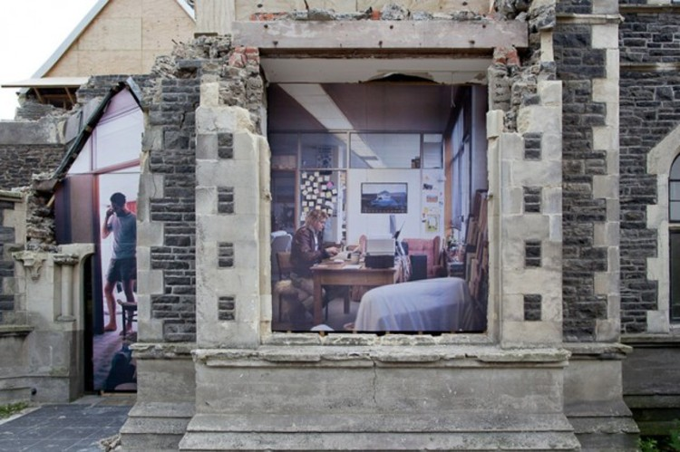 Ilusões urbanas de Mike Hewson