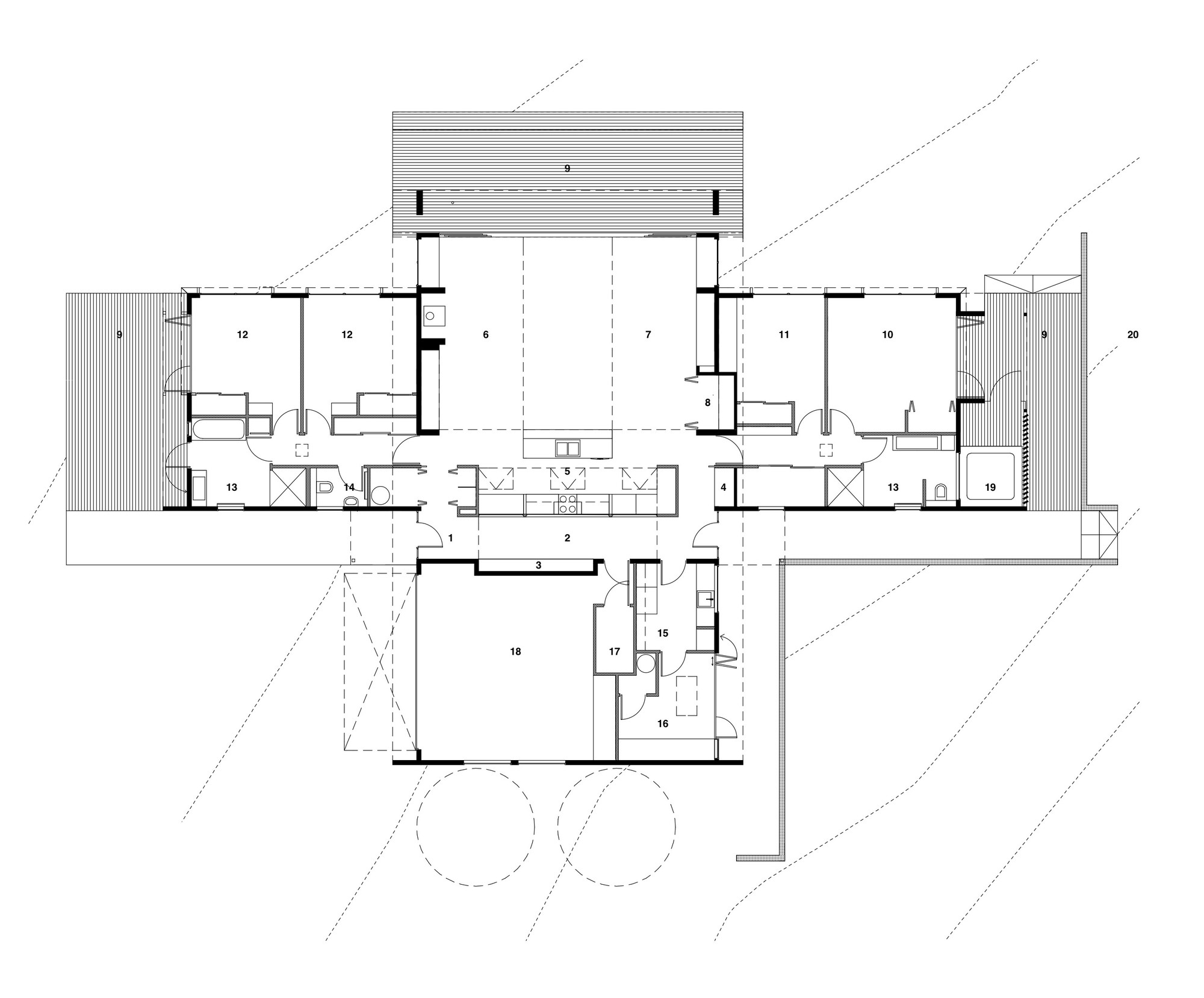 Radman brown house guy herschell architects archdaily for House plan guys