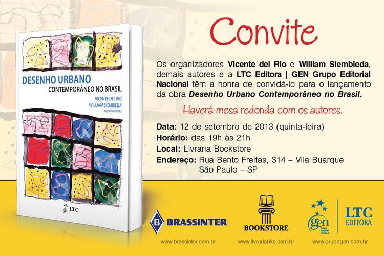 """Mesa redonda e lançamento do livro """"Desenho Urbano Contemporâneo no Brasil"""", em São Paulo"""