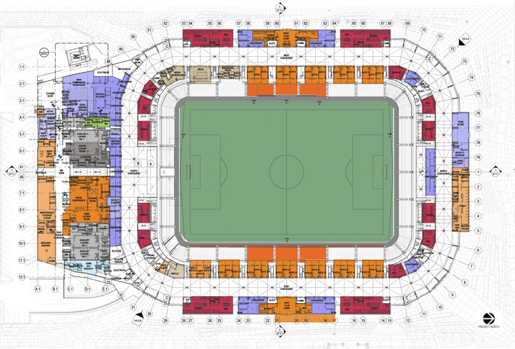 BBVA Comp Stadium / Populous | ArchDaily Dynamo Stadium Seating Map on