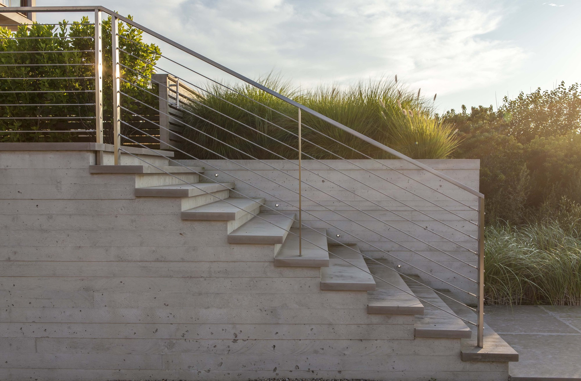 Modern Concrete Stairs Design Outdoor
